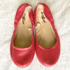 Lucky Brand Emmie Flat In Coral-Pink